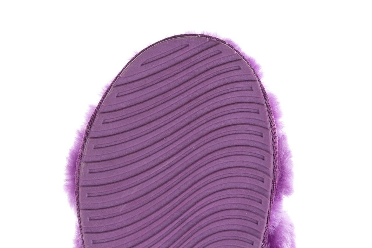 Klapki emu mayberry purple, fiolet, futro naturalne  - sale 15