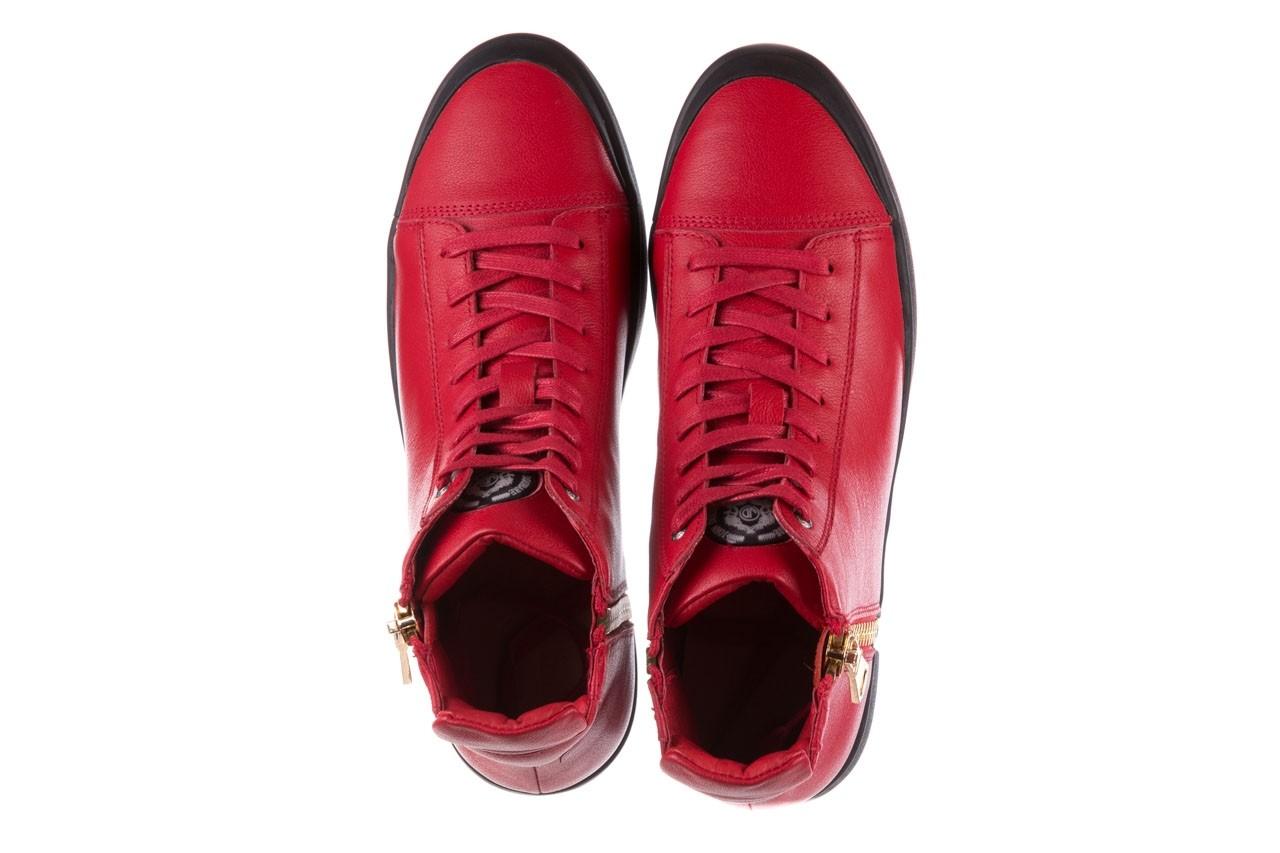 Trampki john doubare m5761-3 red, czerwony, skóra naturalna - mężczyzna 14