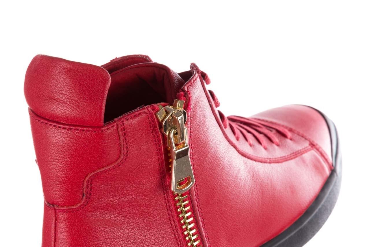 Trampki john doubare m5761-3 red, czerwony, skóra naturalna - mężczyzna 16