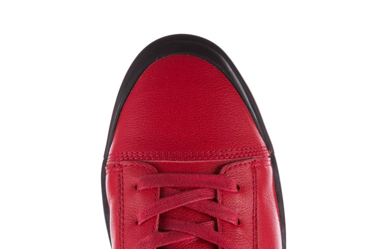 Trampki john doubare m5761-3 red, czerwony, skóra naturalna - mężczyzna 20