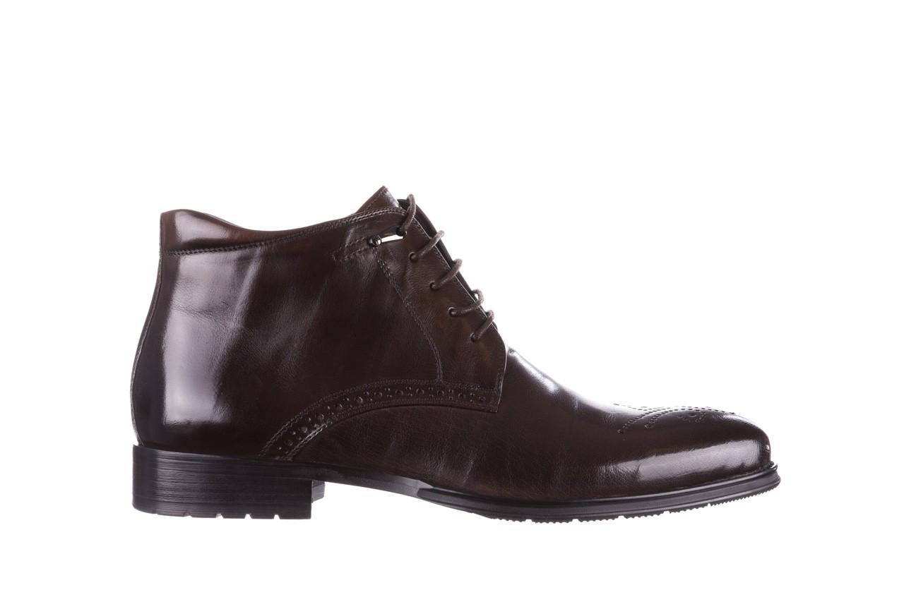 Trzewiki john doubare 992b-716g132-r brown, brąz, skóra naturalna - trzewiki - buty męskie - mężczyzna 9