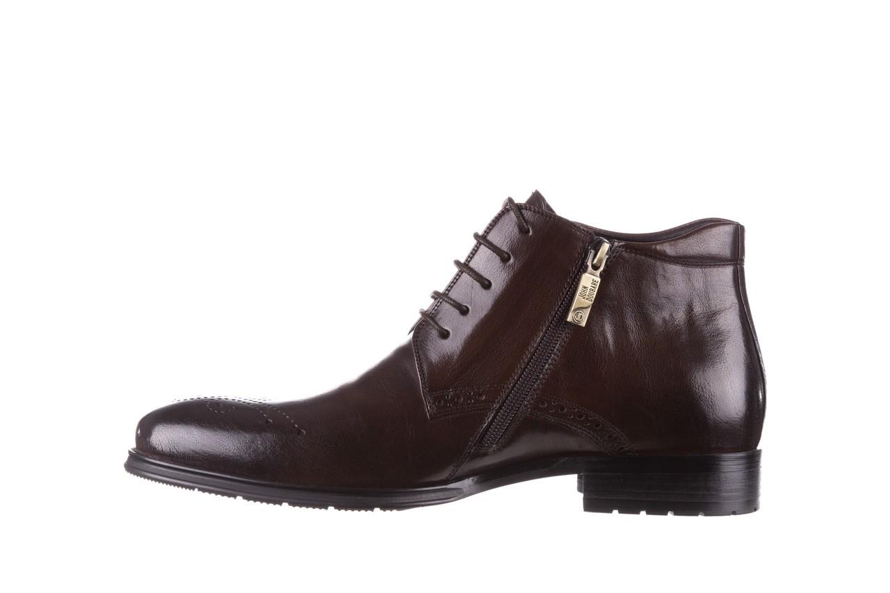 Trzewiki john doubare 992b-716g132-r brown, brąz, skóra naturalna - trzewiki - buty męskie - mężczyzna 11