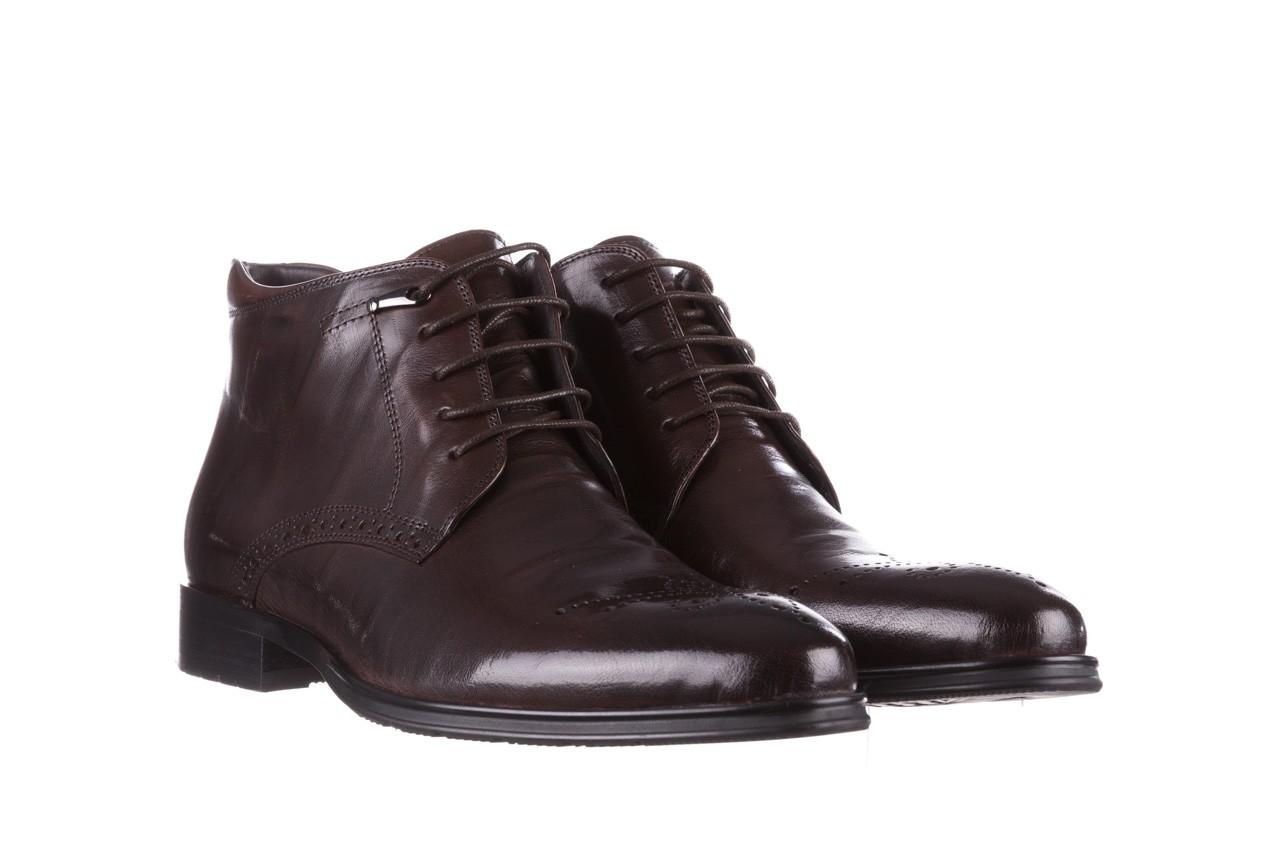 Trzewiki john doubare 992b-716g132-r brown, brąz, skóra naturalna - trzewiki - buty męskie - mężczyzna 10