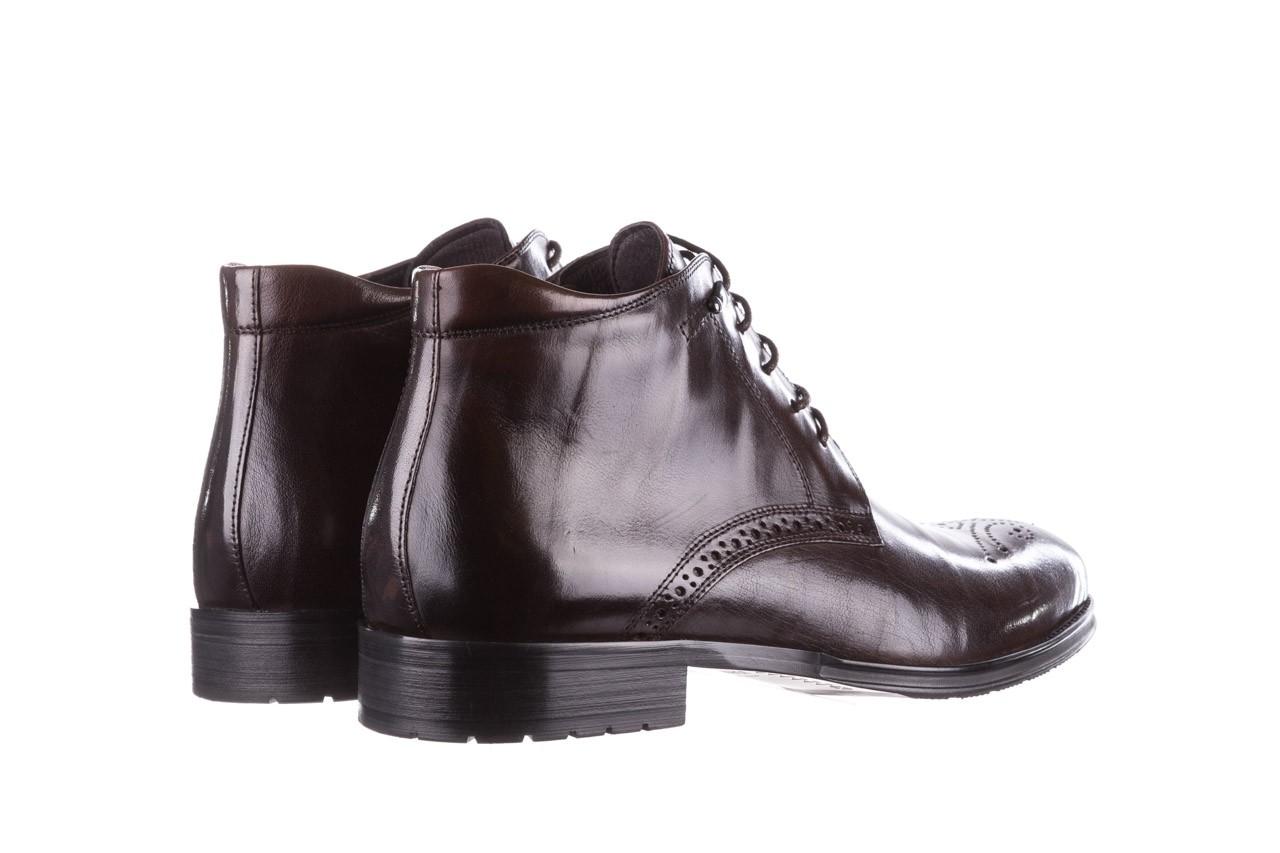 Trzewiki john doubare 992b-716g132-r brown, brąz, skóra naturalna - trzewiki - buty męskie - mężczyzna 12