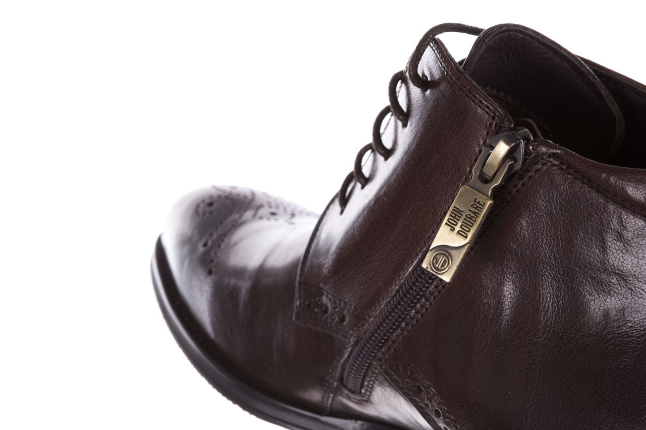 Trzewiki john doubare 992b-716g132-r brown, brąz, skóra naturalna - trzewiki - buty męskie - mężczyzna 17