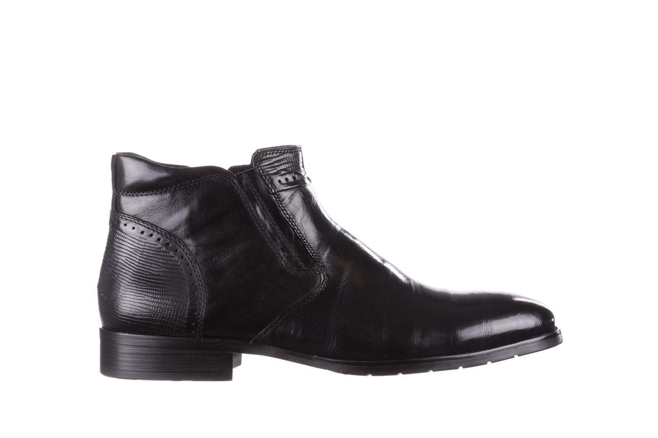 Trzewiki john doubare 212h-50-n001 black, czarny, skóra naturalna - buty męskie - mężczyzna 10