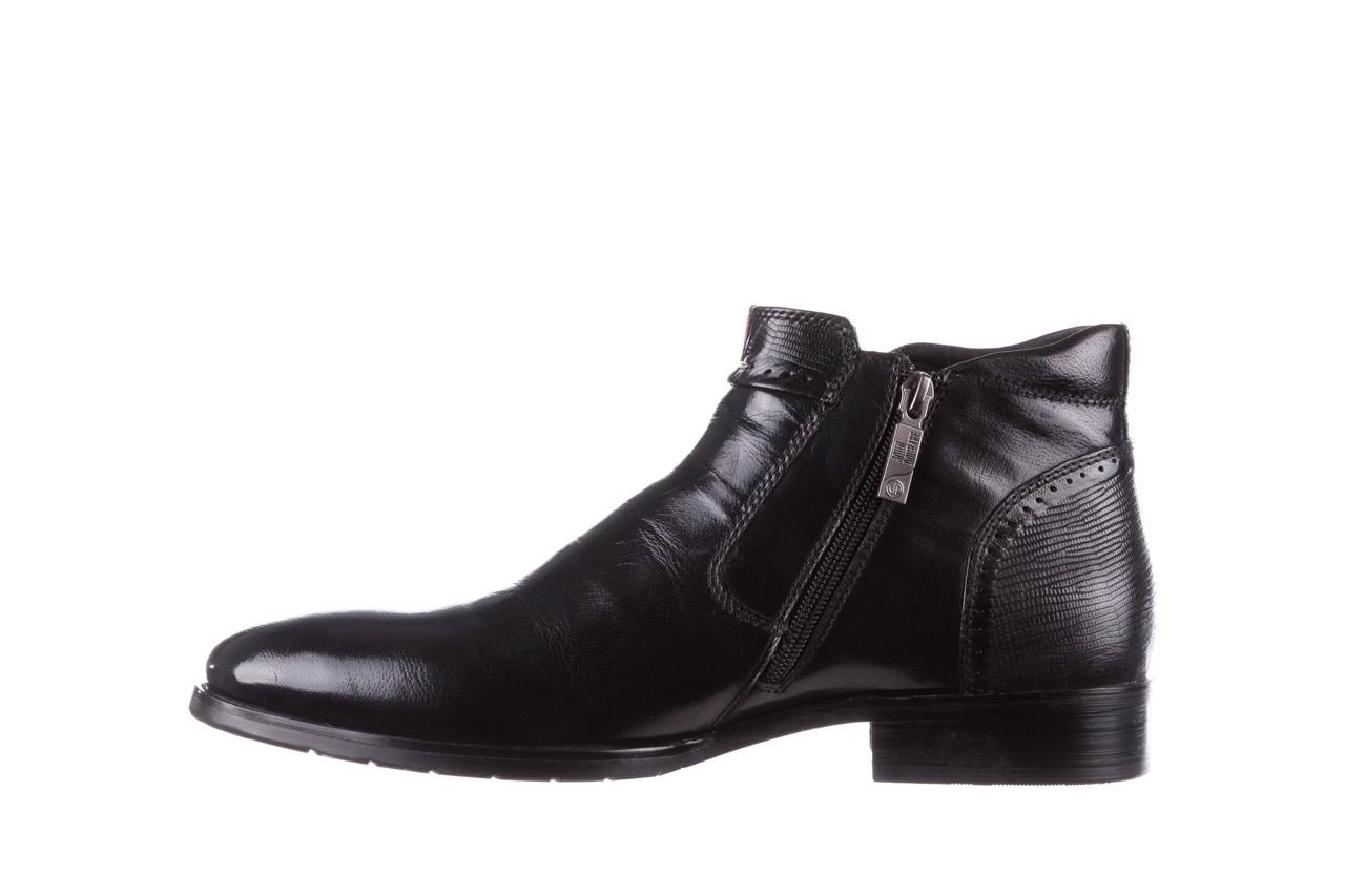 Trzewiki john doubare 212h-50-n001 black, czarny, skóra naturalna - buty męskie - mężczyzna 12