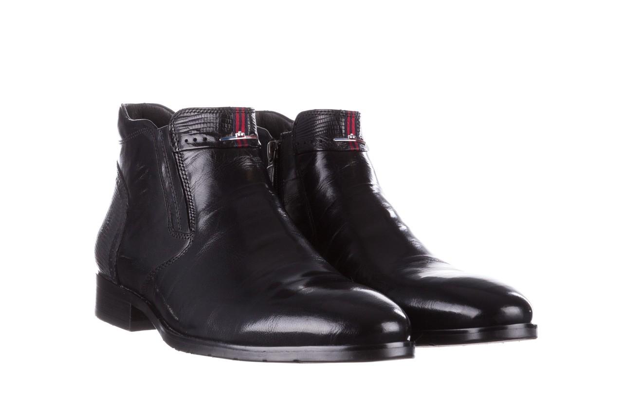 Trzewiki john doubare 212h-50-n001 black, czarny, skóra naturalna - buty męskie - mężczyzna 11