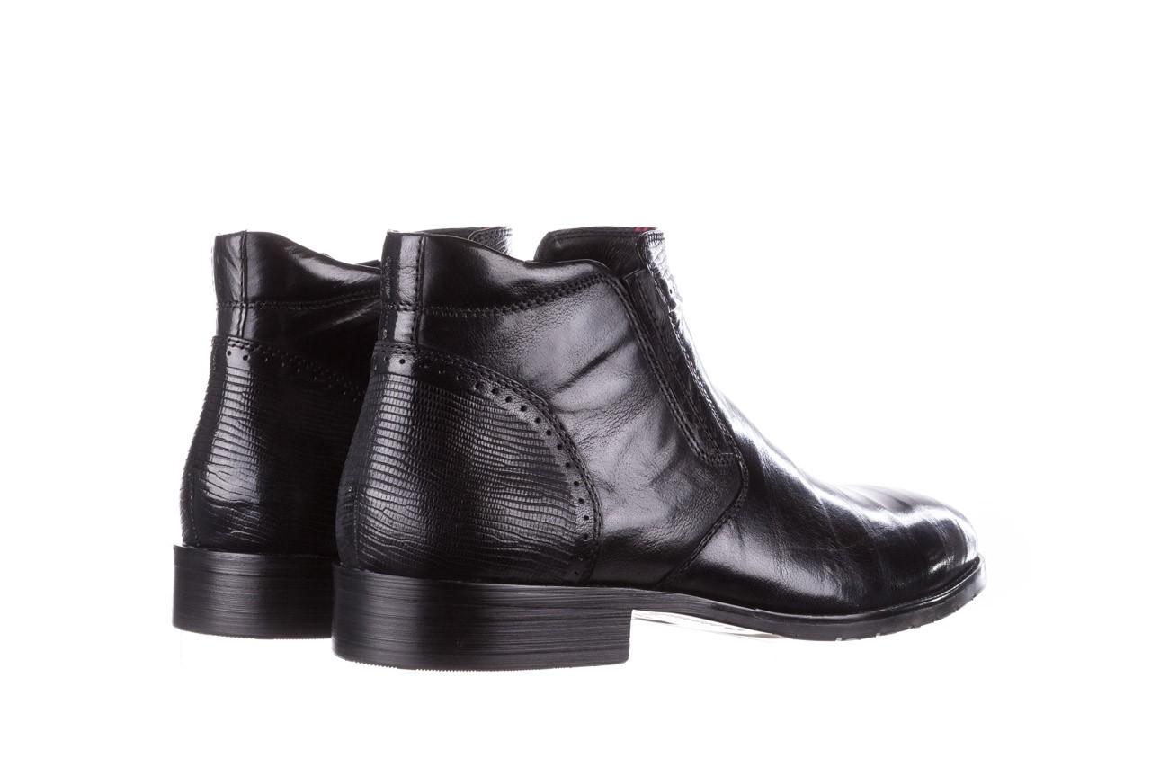 Trzewiki john doubare 212h-50-n001 black, czarny, skóra naturalna - buty męskie - mężczyzna 13