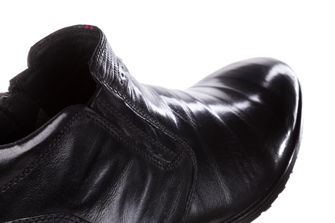 Trzewiki john doubare 212h-50-n001 black, czarny, skóra naturalna - buty męskie - mężczyzna 18