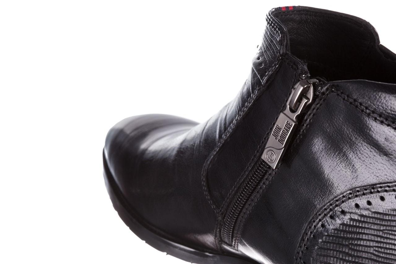 Trzewiki john doubare 212h-50-n001 black, czarny, skóra naturalna - buty męskie - mężczyzna 17