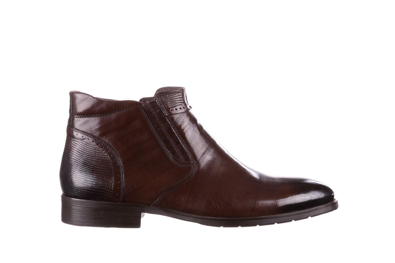 Trzewiki john doubare 212h-50-n002r brown, brąz, skóra naturalna - obuwie wizytowe - buty męskie - mężczyzna 9