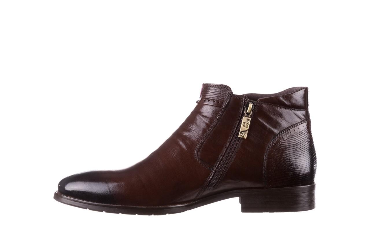 Trzewiki john doubare 212h-50-n002r brown, brąz, skóra naturalna - obuwie wizytowe - buty męskie - mężczyzna 11