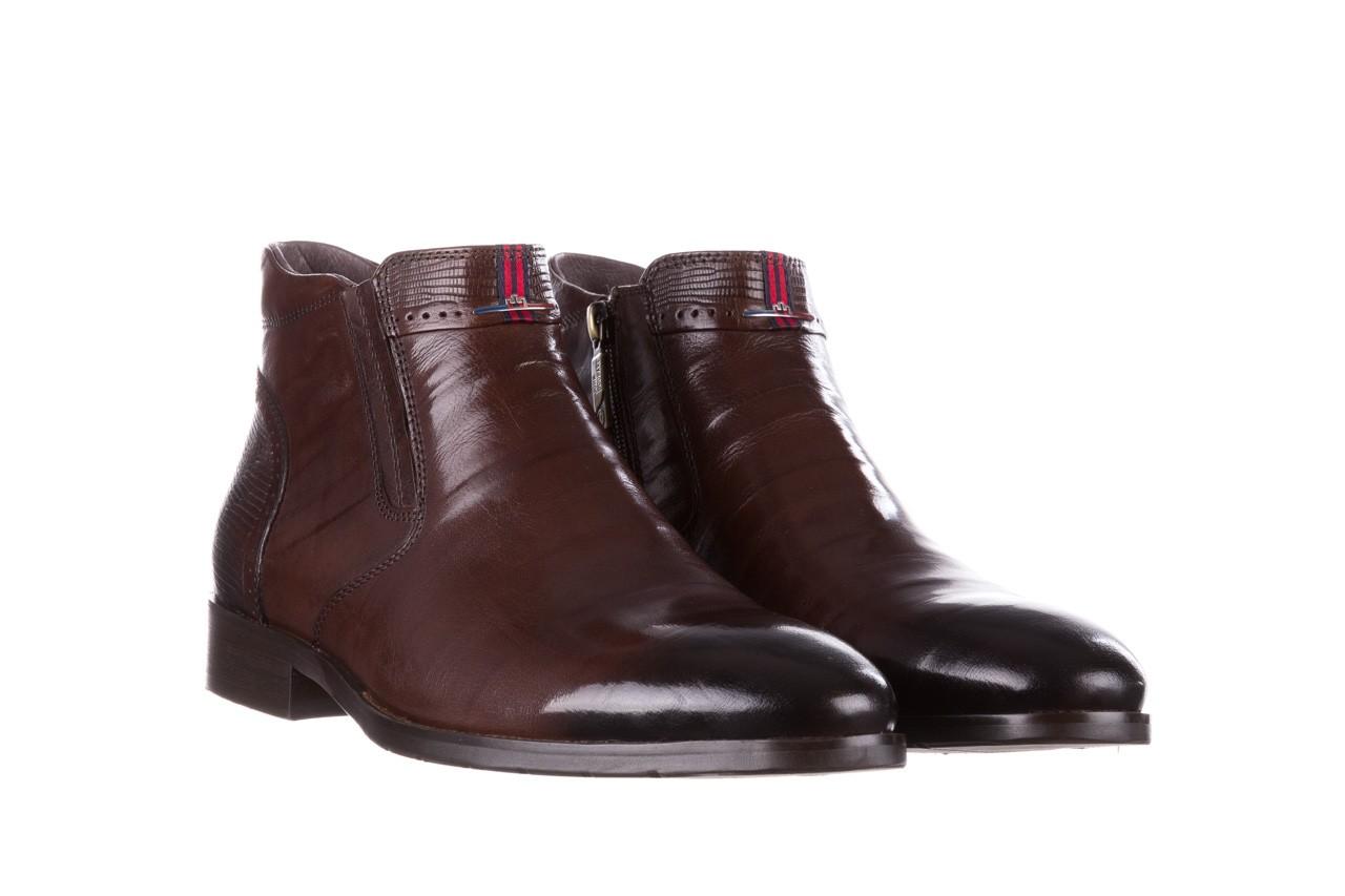 Trzewiki john doubare 212h-50-n002r brown, brąz, skóra naturalna - obuwie wizytowe - buty męskie - mężczyzna 10