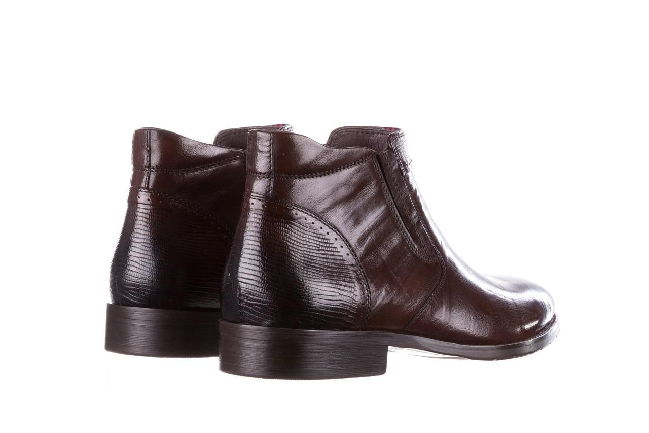 Trzewiki john doubare 212h-50-n002r brown, brąz, skóra naturalna - obuwie wizytowe - buty męskie - mężczyzna 12