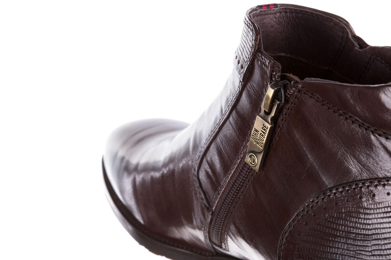 Trzewiki john doubare 212h-50-n002r brown, brąz, skóra naturalna - obuwie wizytowe - buty męskie - mężczyzna 16