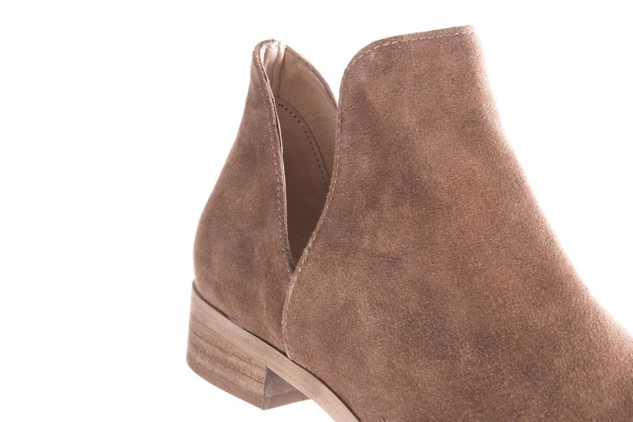 Botki bayla-157 b028-008-p beż, skóra naturalna - sztyblety - botki - buty damskie - kobieta 14