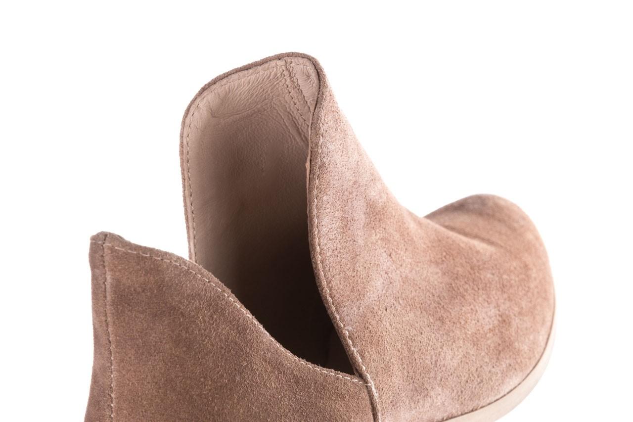 Botki bayla-157 b028-008-p beż, skóra naturalna - sztyblety - botki - buty damskie - kobieta 15