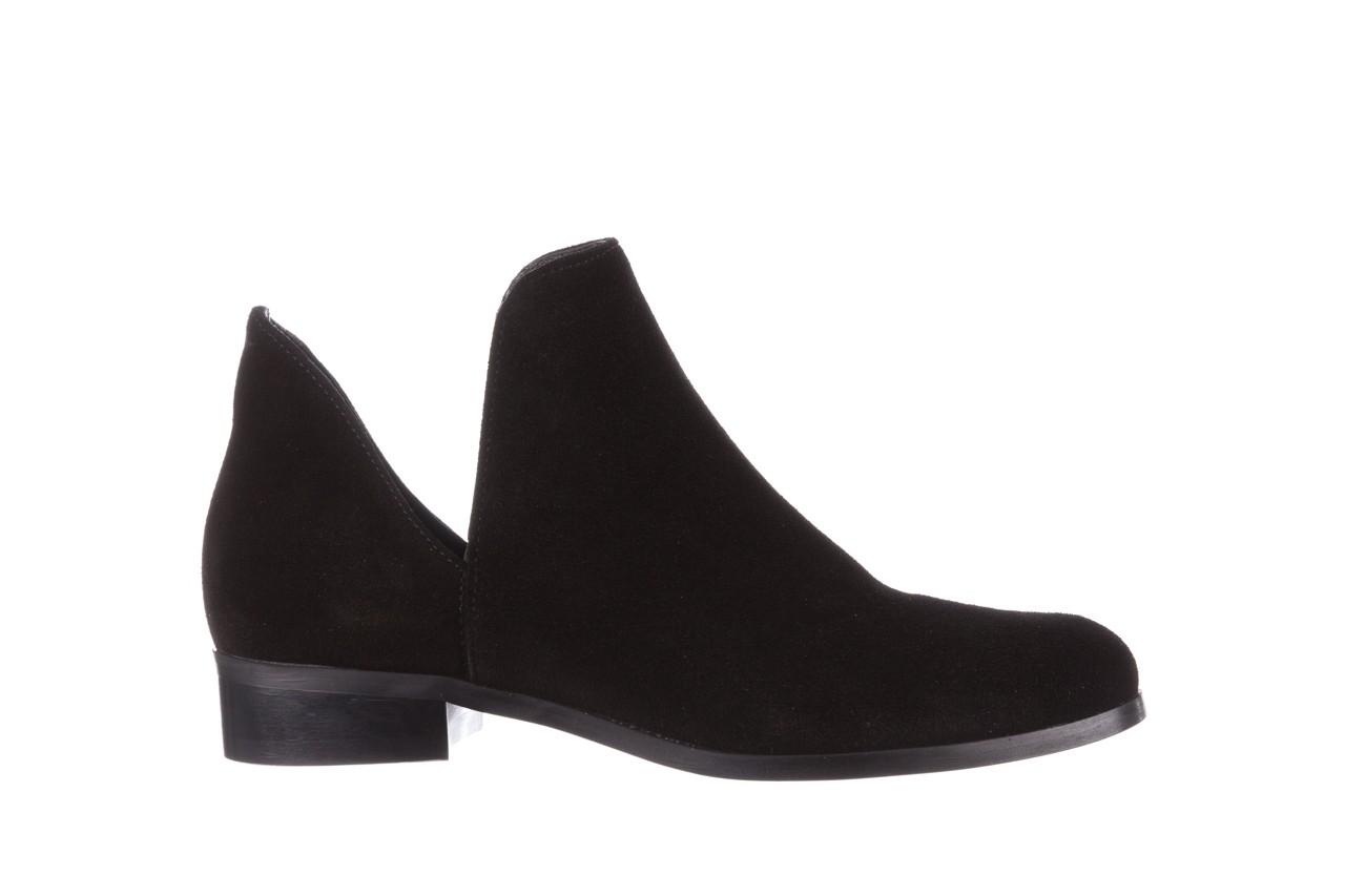 Botki bayla-157 b028-126-p czarny, skóra naturalna - zamszowe - botki - buty damskie - kobieta 8