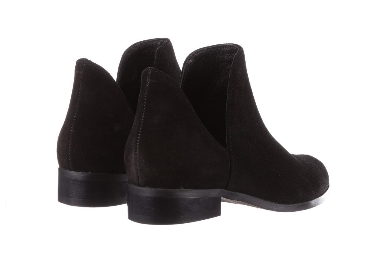 Botki bayla-157 b028-126-p czarny, skóra naturalna - zamszowe - botki - buty damskie - kobieta 13