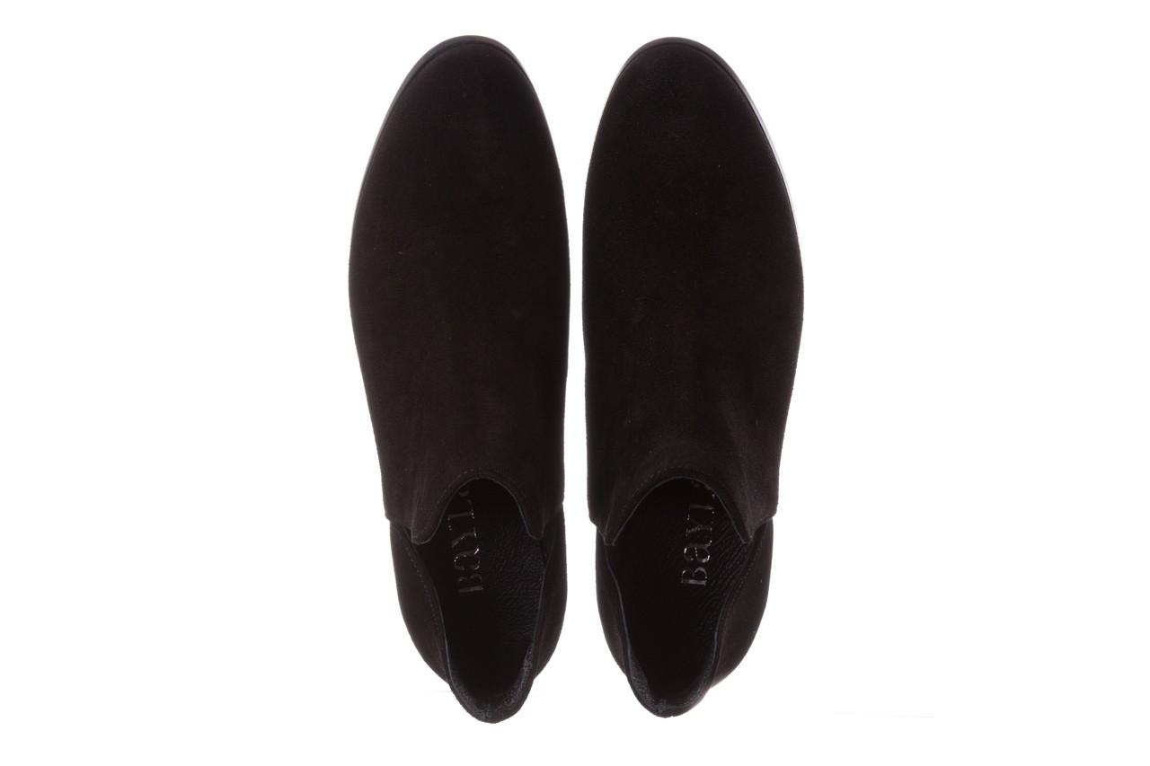 Botki bayla-157 b028-126-p czarny, skóra naturalna - zamszowe - botki - buty damskie - kobieta 12