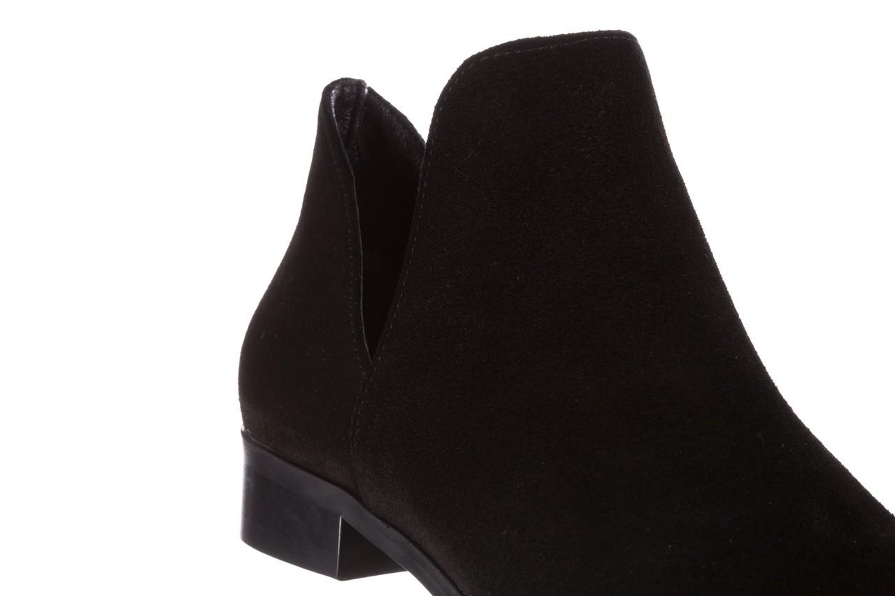 Botki bayla-157 b028-126-p czarny, skóra naturalna - zamszowe - botki - buty damskie - kobieta 14