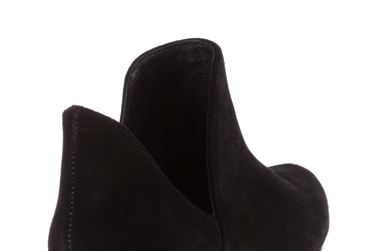Botki bayla-157 b028-126-p czarny, skóra naturalna - zamszowe - botki - buty damskie - kobieta 15
