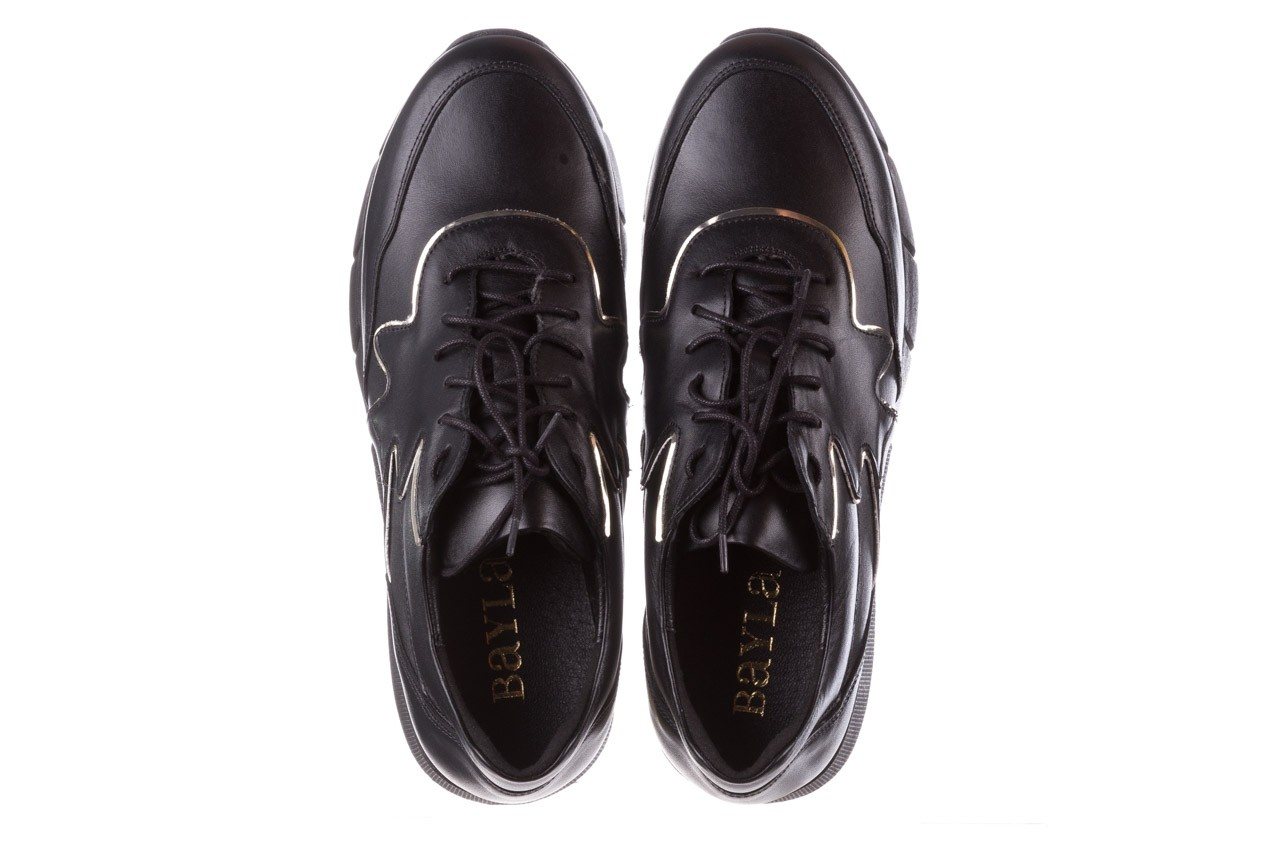Trampki bayla-157 b026-076-p czarny, skóra naturalna - skórzane - trampki - buty damskie - kobieta 15