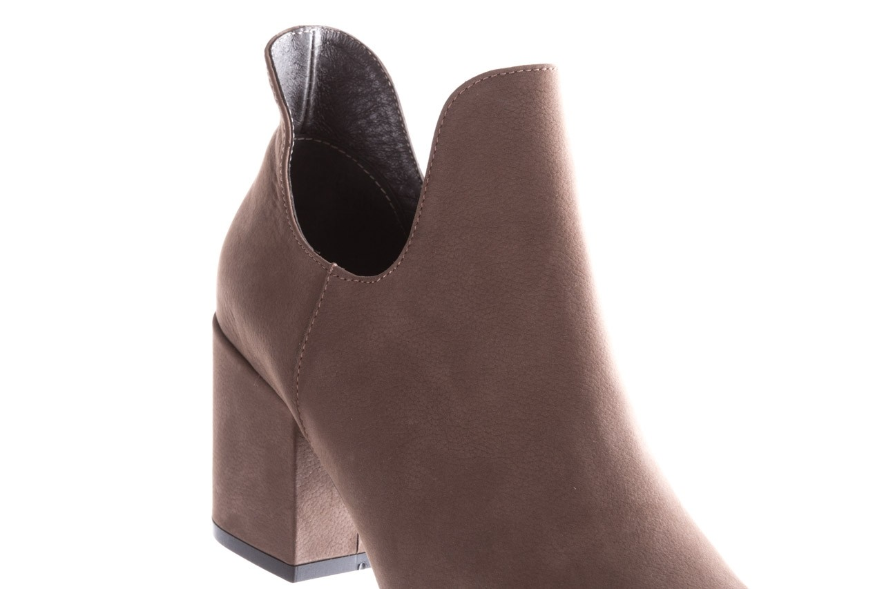 Botki bayla-157 b030-007-p szary, skóra naturalna - sztyblety - botki - buty damskie - kobieta 15