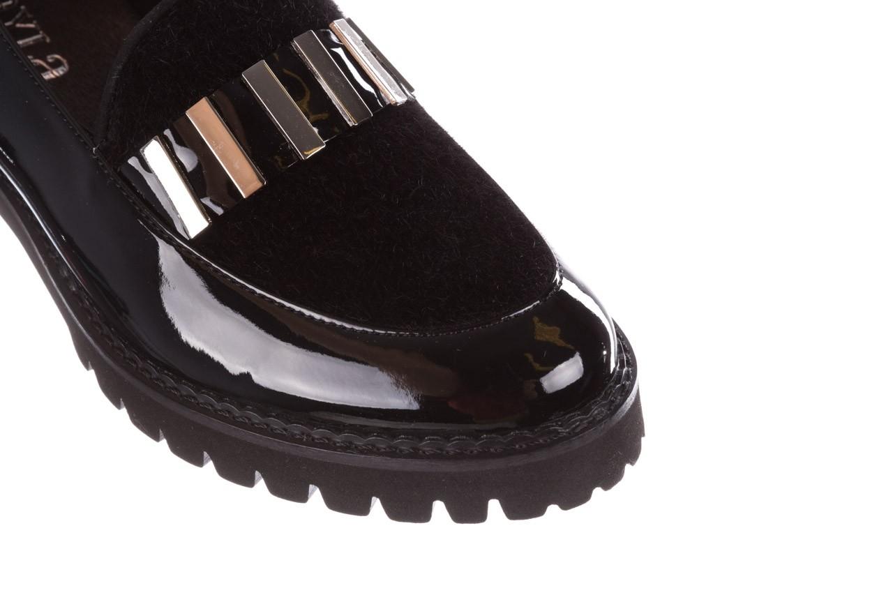 Półbuty bayla-157 b023-126-p czarny, skóra naturalna lakierowana - mokasyny i lordsy - półbuty - buty damskie - kobieta 15