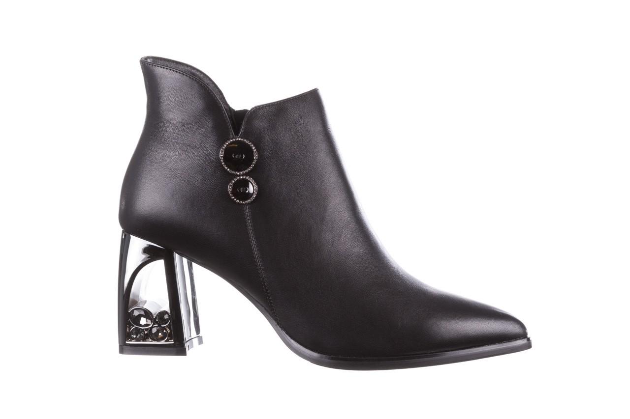 Botki sca'viola f-173 black leather, czarny, skóra naturalna - skórzane - botki - buty damskie - kobieta 10