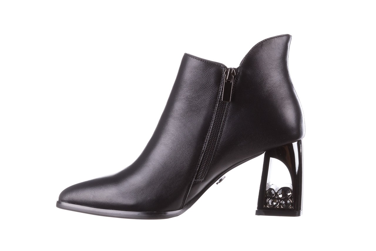 Botki sca'viola f-173 black leather, czarny, skóra naturalna - skórzane - botki - buty damskie - kobieta 13