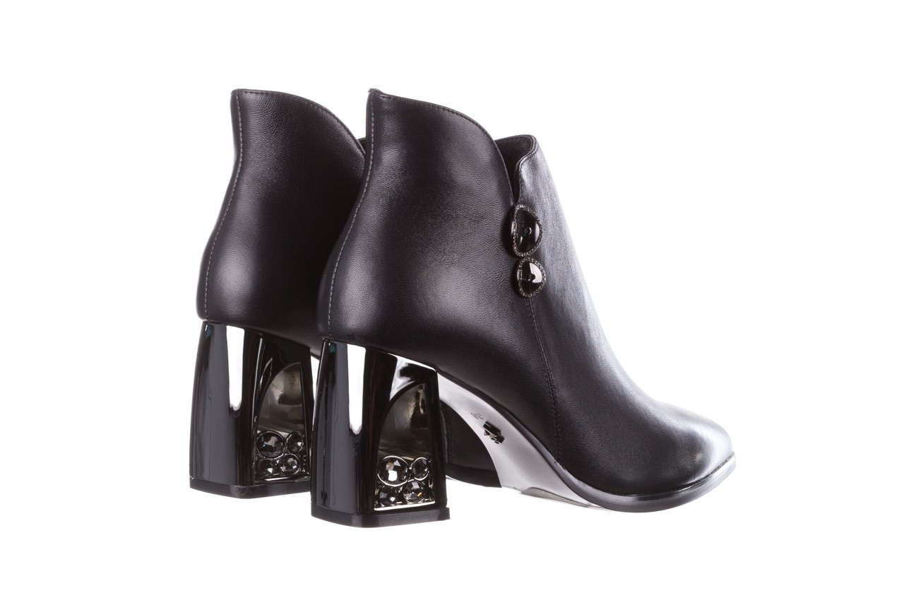 Botki sca'viola f-173 black leather, czarny, skóra naturalna - skórzane - botki - buty damskie - kobieta 14