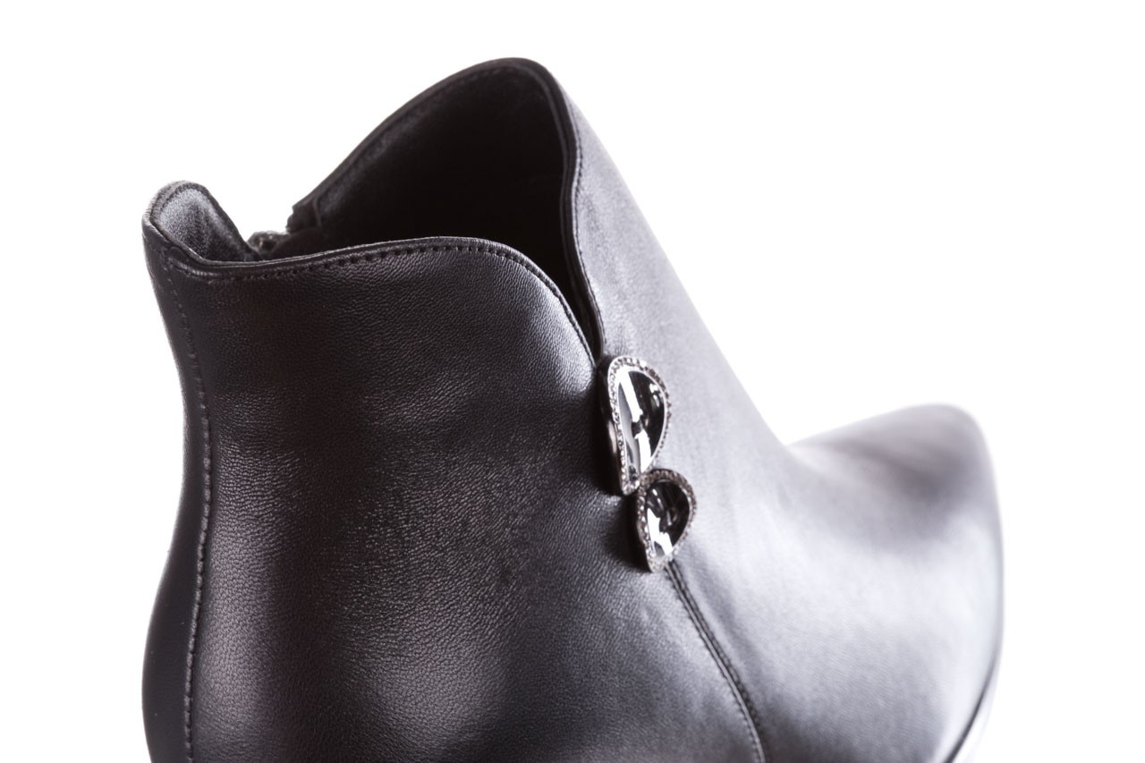 Botki sca'viola f-173 black leather, czarny, skóra naturalna - skórzane - botki - buty damskie - kobieta 16