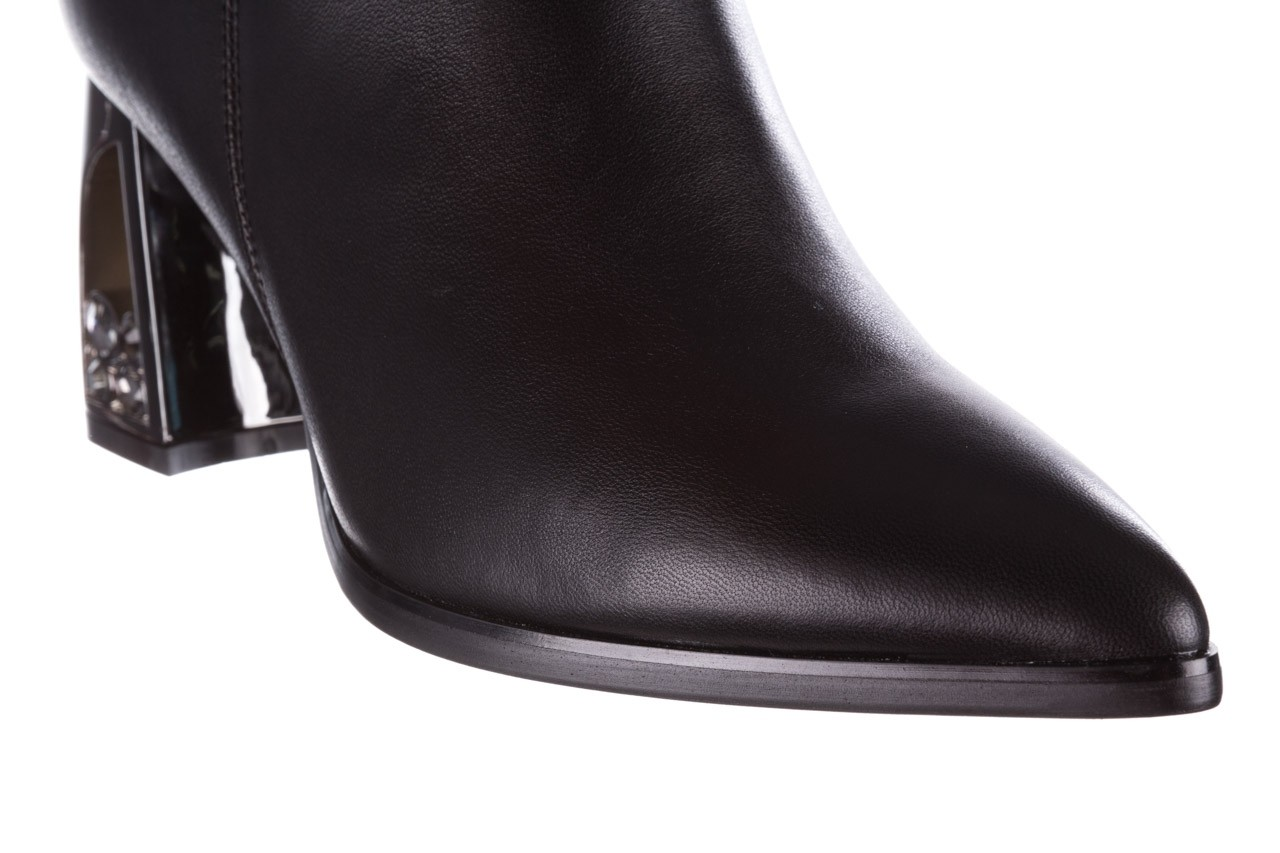 Botki sca'viola f-173 black leather, czarny, skóra naturalna - skórzane - botki - buty damskie - kobieta 17