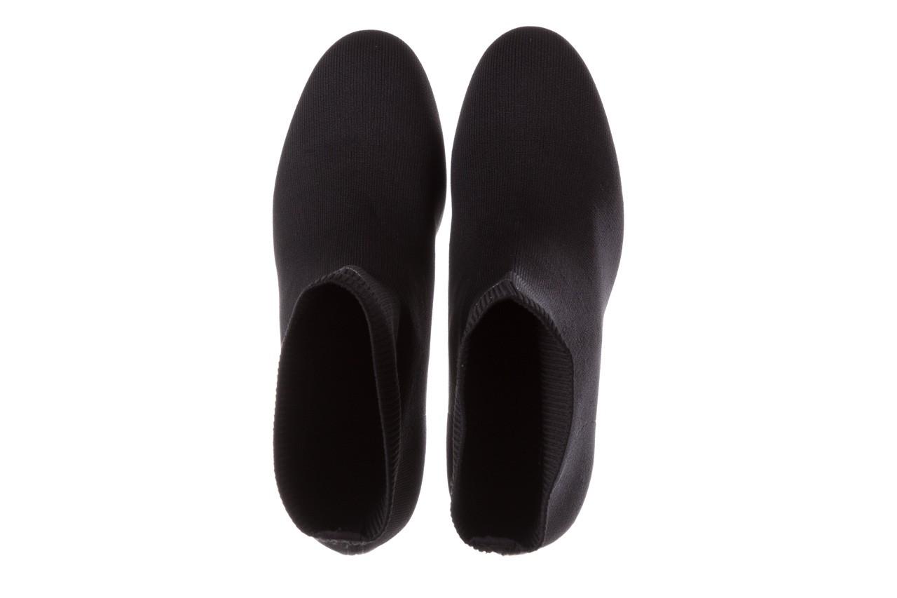 Botki sca'viola b-157 black, czarny, materiał - sale 13