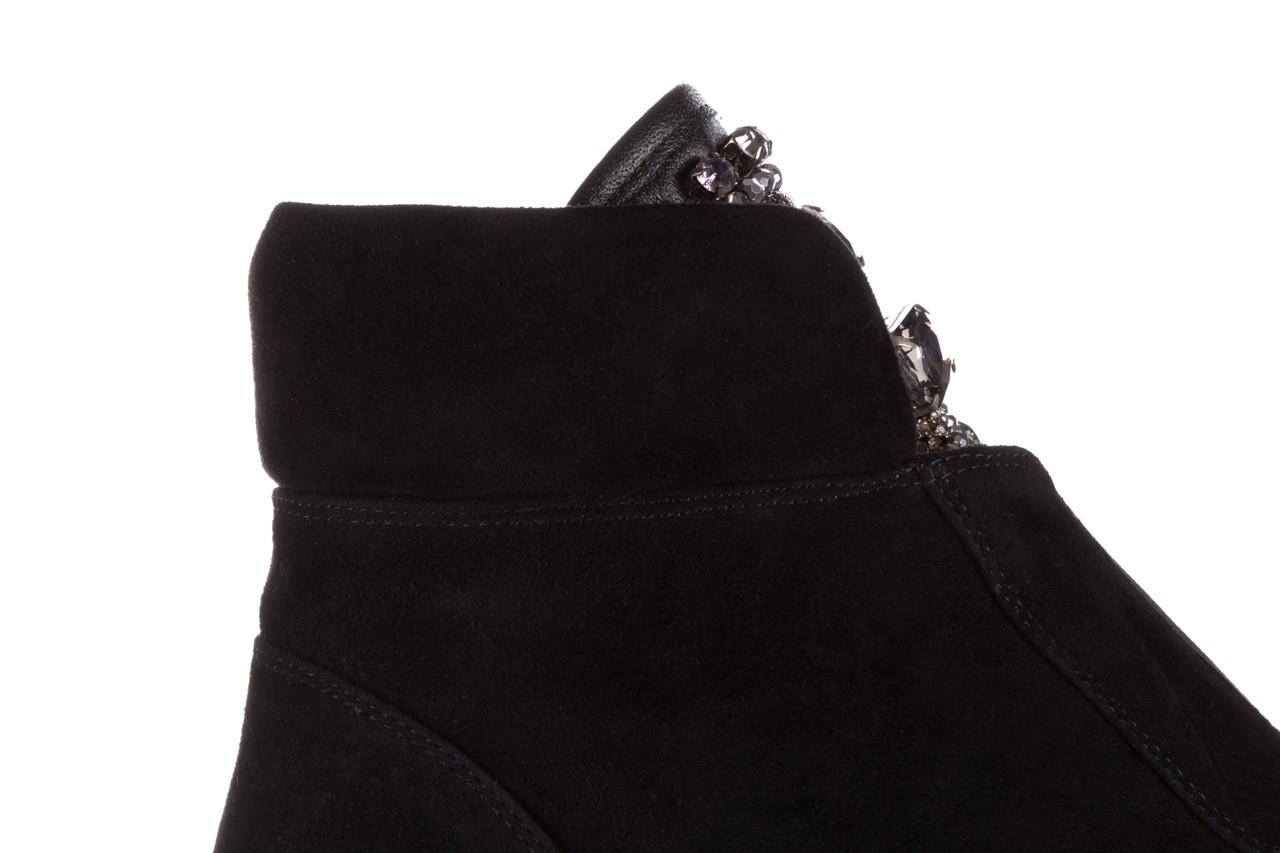 Trzewiki sca'viola f-170 black suede, czarny, skóra naturalna - trzewiki - buty damskie - kobieta 15