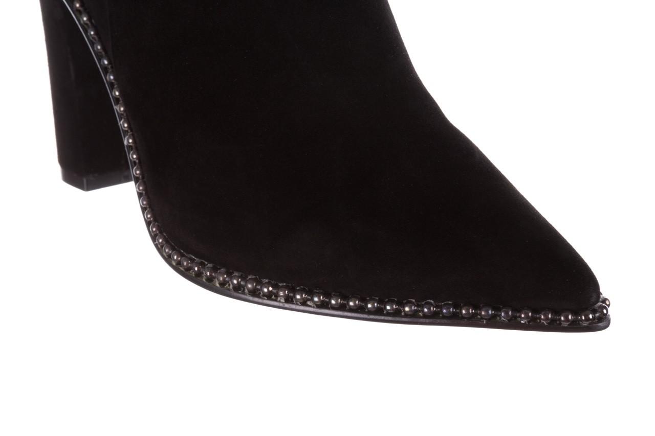 Kozaki sca'viola e-19 black suede, czarny, skóra naturalna - kozaki - buty damskie - kobieta 20