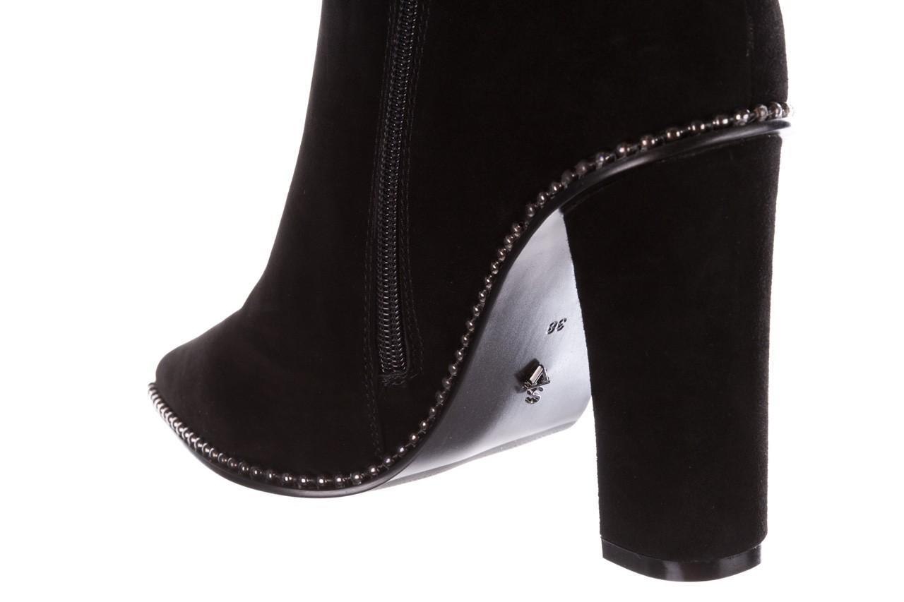 Kozaki sca'viola e-19 black suede, czarny, skóra naturalna - kozaki - buty damskie - kobieta 22