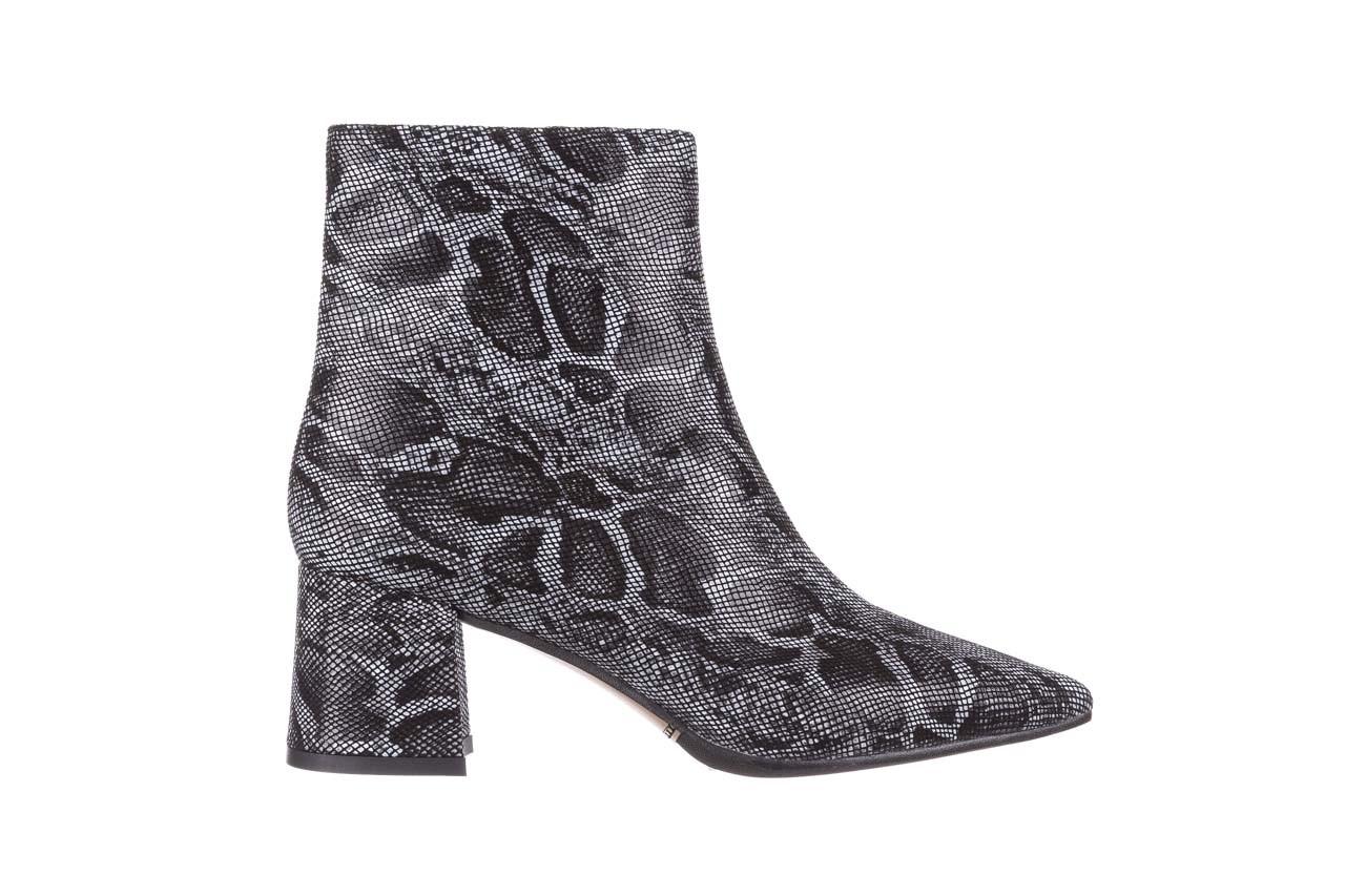 Botki bayla-188 006 jaszczurka szary, skóra naturalna - worker boots - trendy - kobieta 10