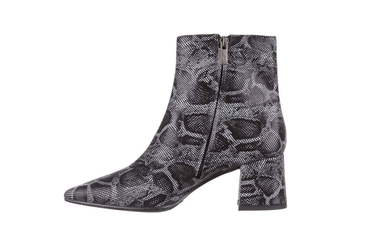 Botki bayla-188 006 jaszczurka szary, skóra naturalna - worker boots - trendy - kobieta 13