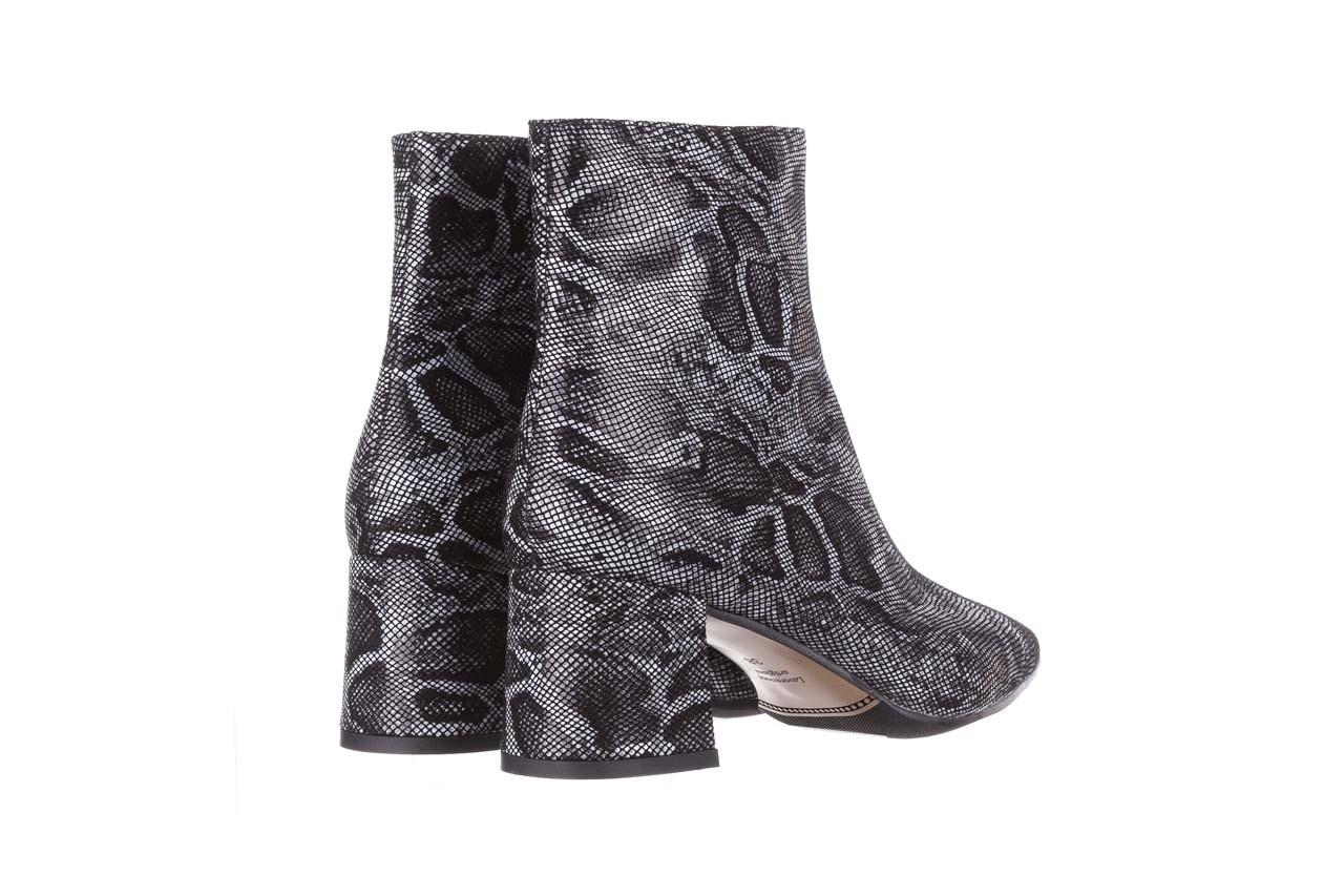 Botki bayla-188 006 jaszczurka szary, skóra naturalna - worker boots - trendy - kobieta 14