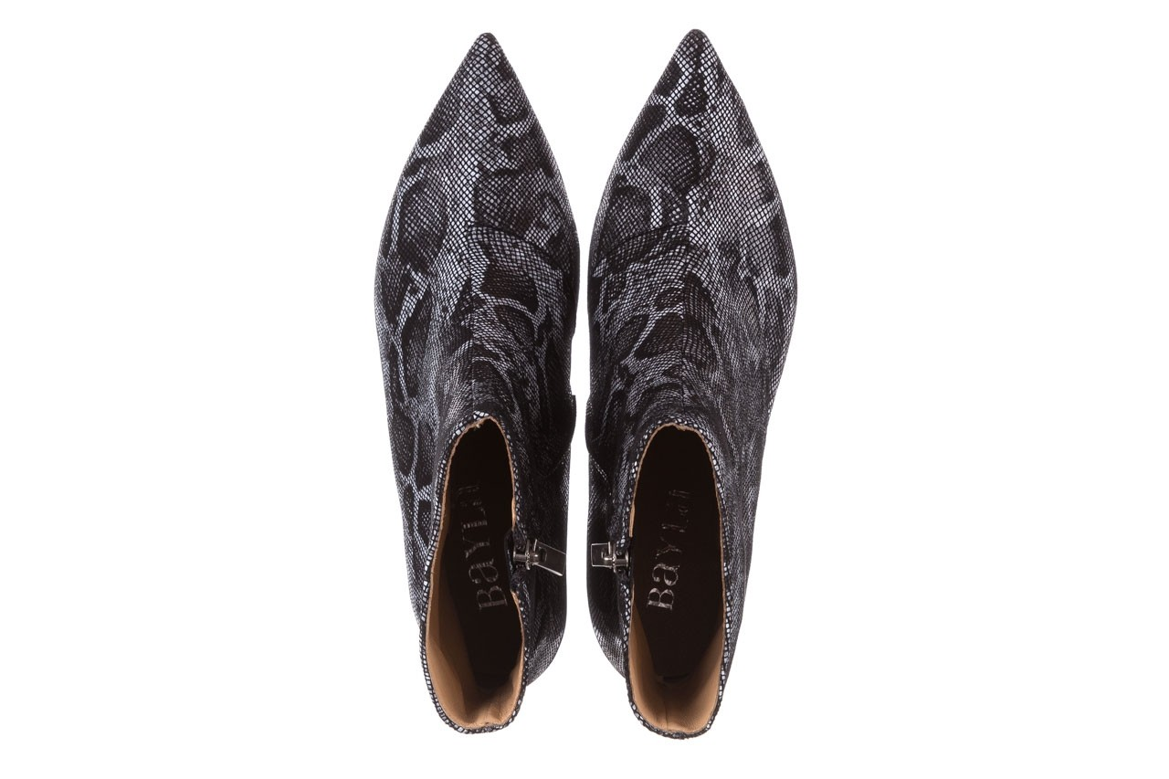 Botki bayla-188 006 jaszczurka szary, skóra naturalna - worker boots - trendy - kobieta 15