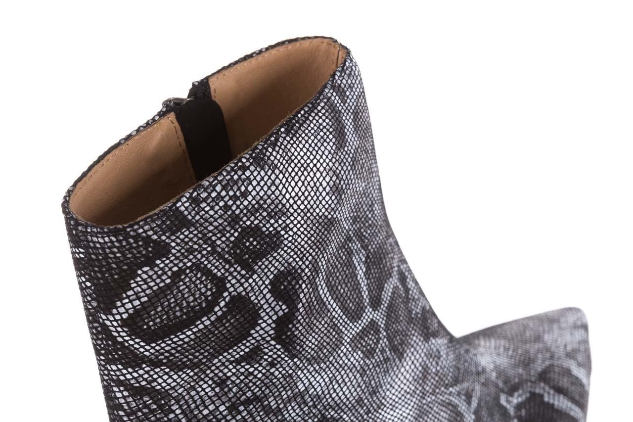 Botki bayla-188 006 jaszczurka szary, skóra naturalna - worker boots - trendy - kobieta 16