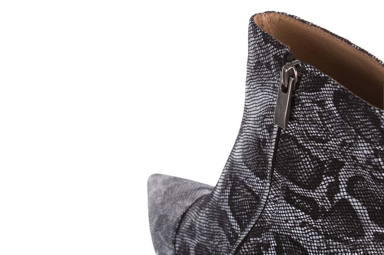Botki bayla-188 006 jaszczurka szary, skóra naturalna - worker boots - trendy - kobieta 18