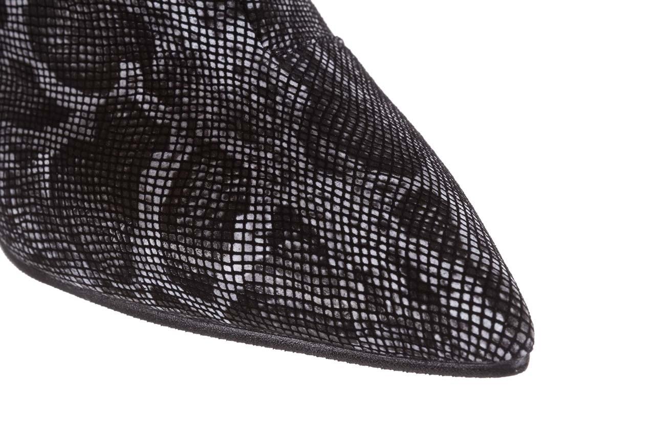 Botki bayla-188 006 jaszczurka szary, skóra naturalna - worker boots - trendy - kobieta 17