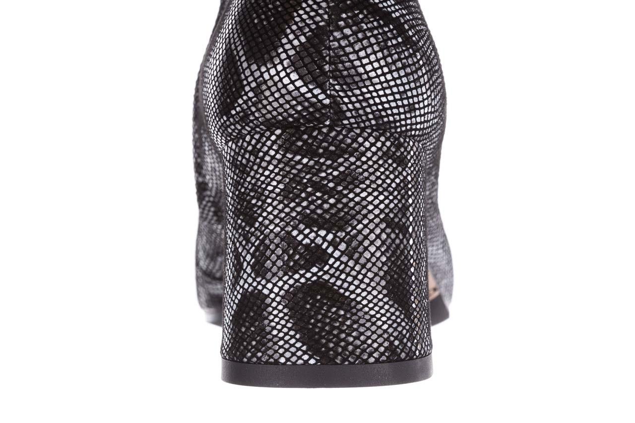 Botki bayla-188 006 jaszczurka szary, skóra naturalna - worker boots - trendy - kobieta 19