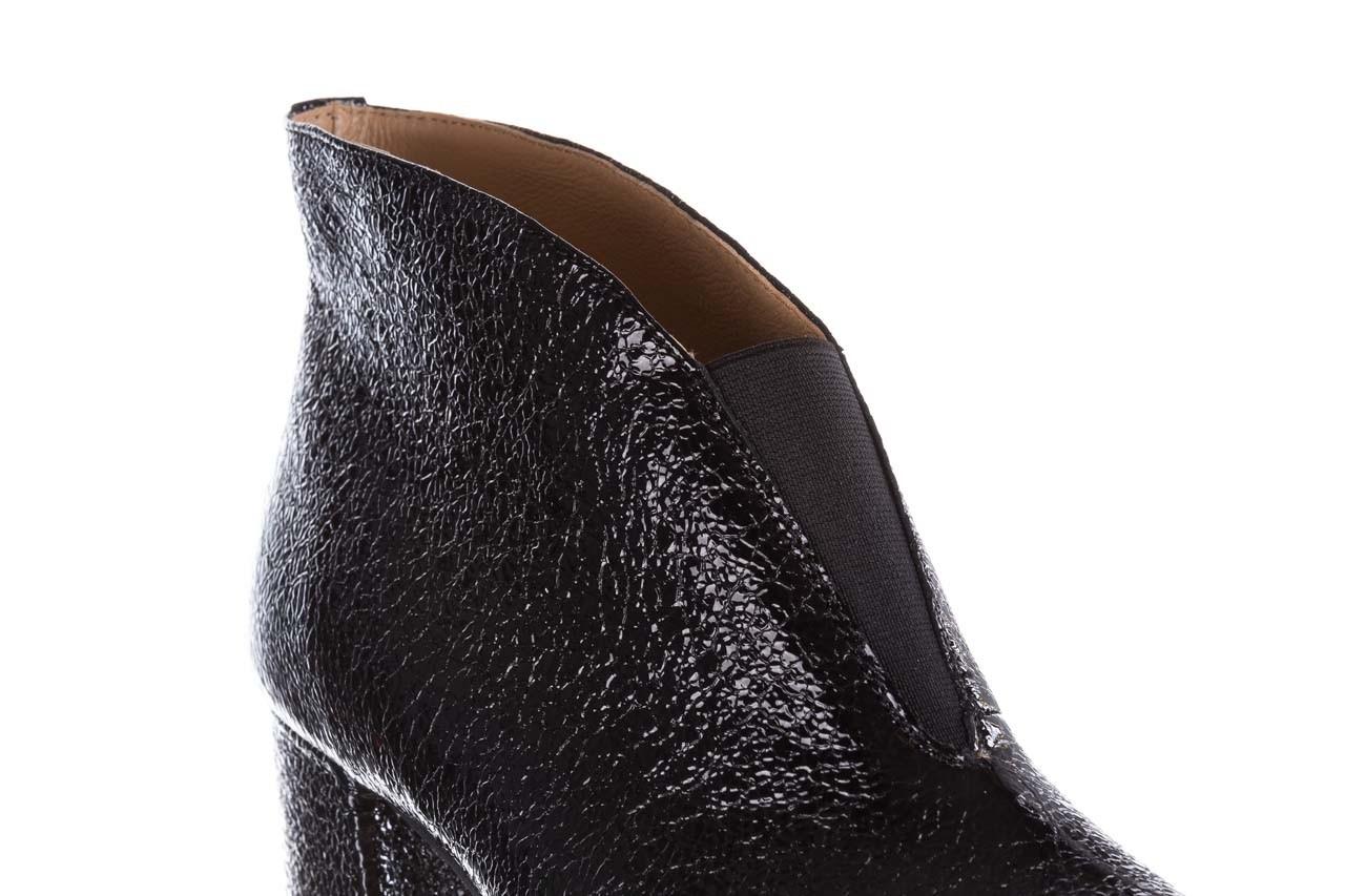 Botki bayla-188 031 czarny, skóra naturalna lakierowana - skórzane - botki - buty damskie - kobieta 15
