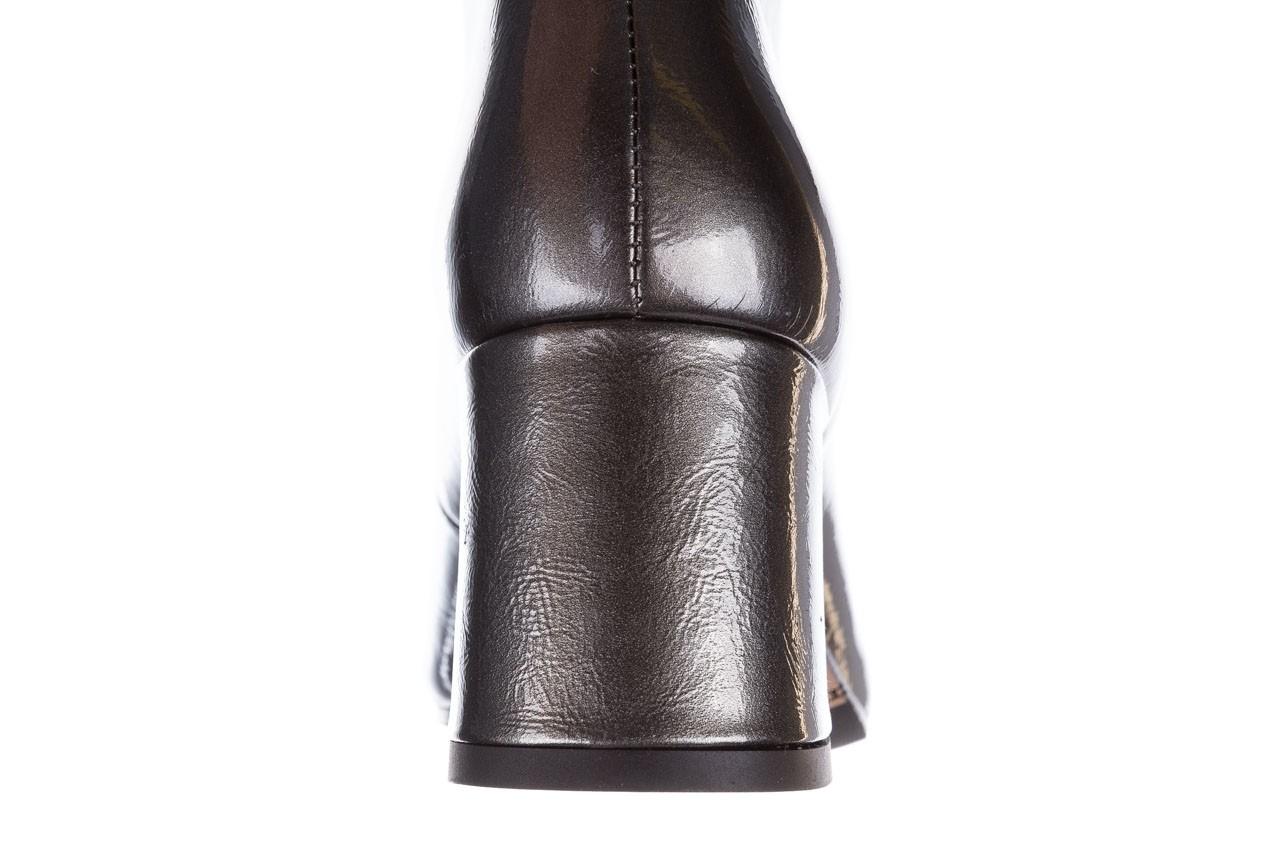 Botki bayla-188 031 szary, skóra naturalna lakierowana - botki i trzewiki - dla niej  - sale 17