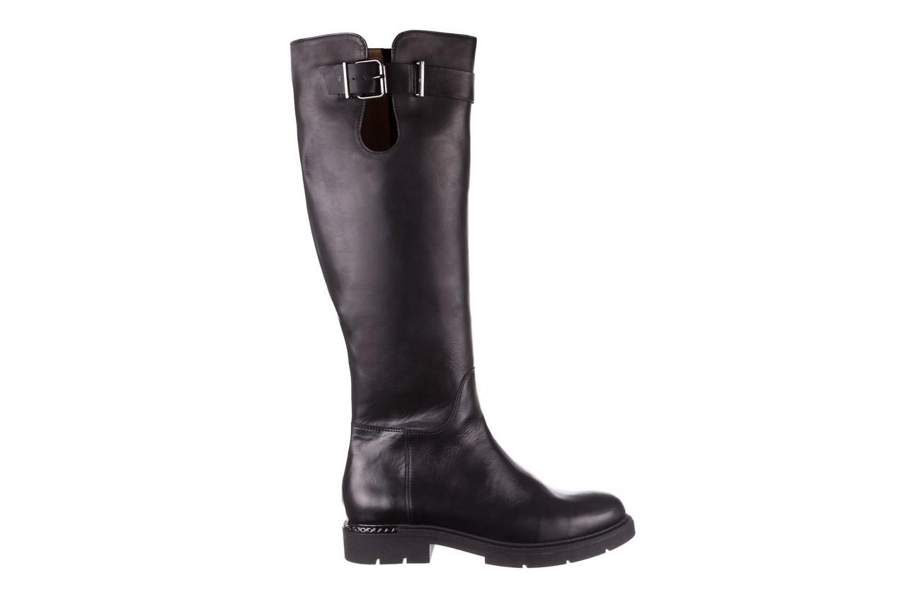 Kozaki bayla-188 020 czarny, skóra naturalna - płaskie - kozaki - buty damskie - kobieta 11